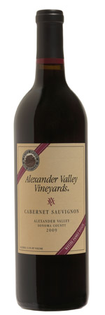 Alexander Valley Vineyards Cabernet Sauvignon 2009, findingourwaynow.com