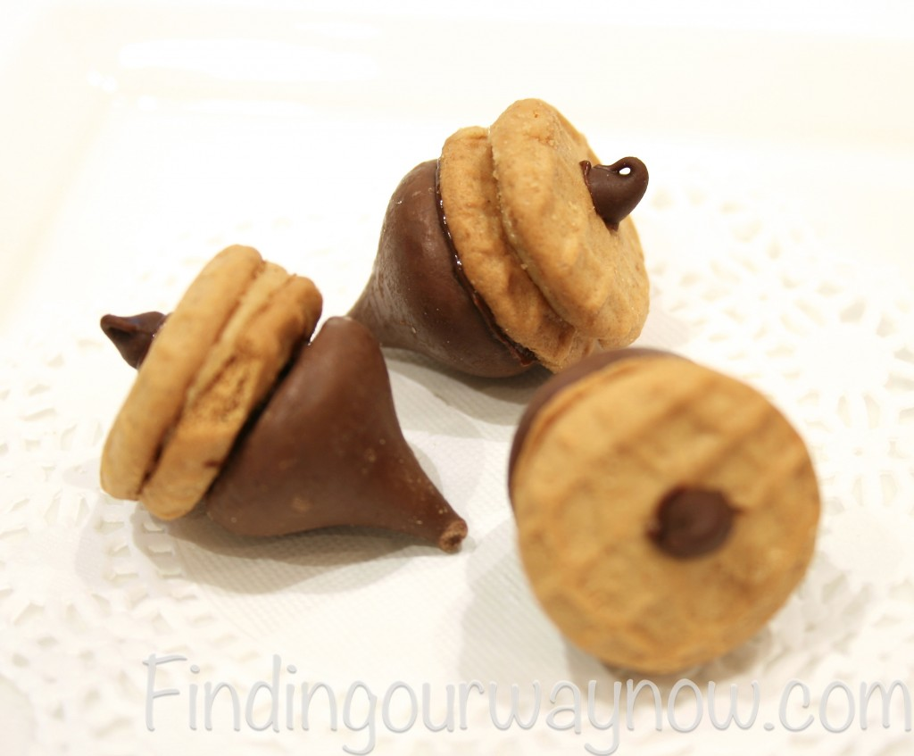 Chocolate Peanut-Butter Acorns Treats, findingourwaynow.com