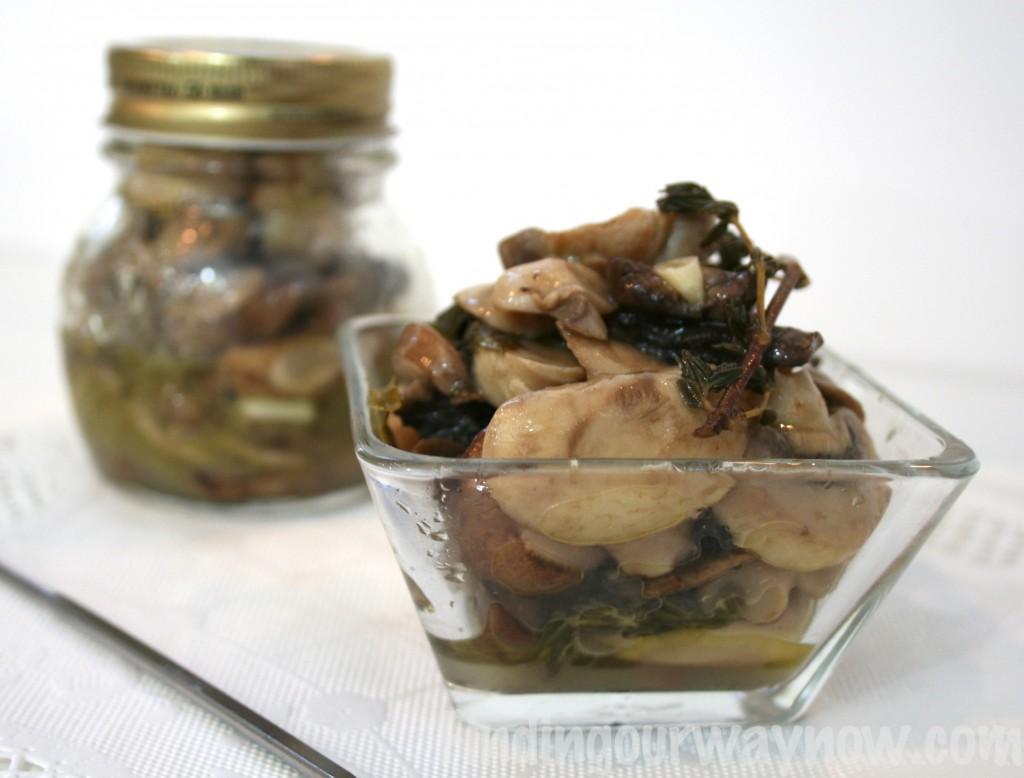 Marinated Mushrooms, findingourwaynow.com